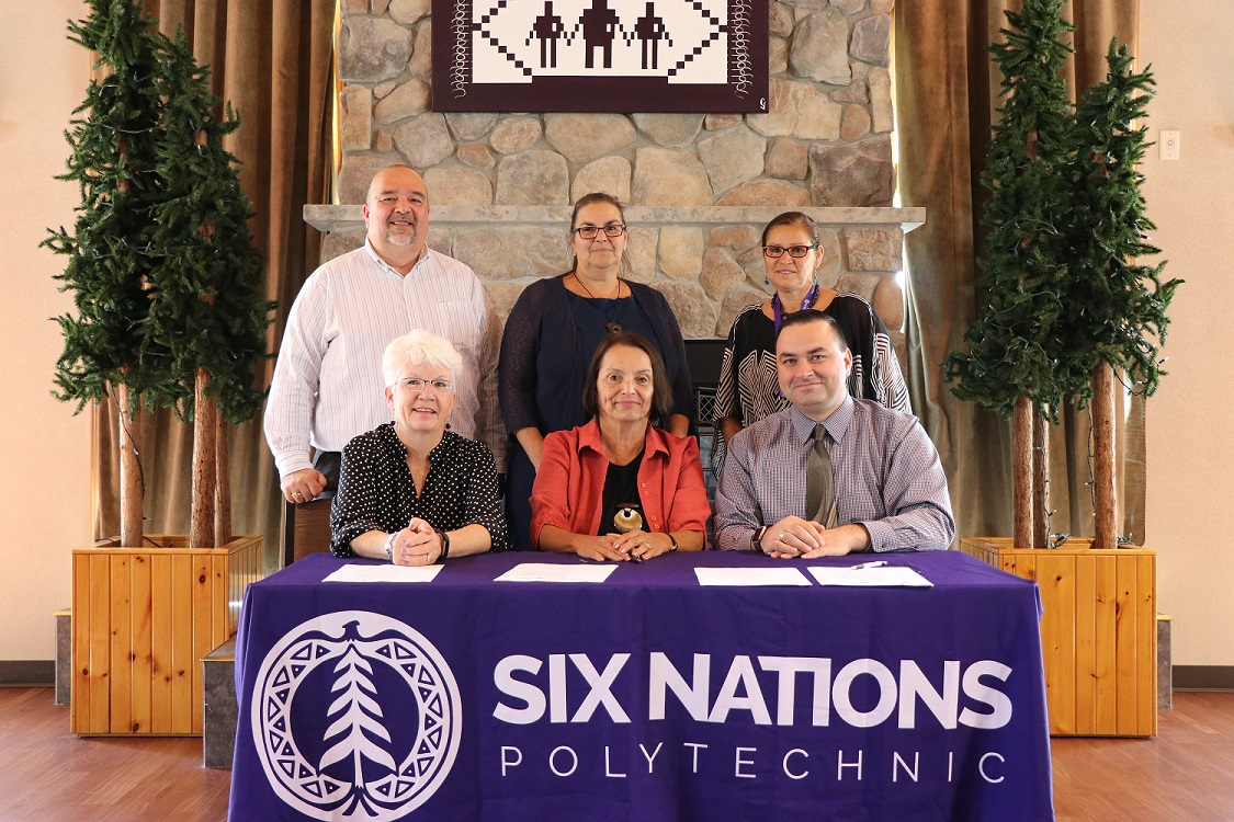 Canadore and Six Nations Polytechnic staff sign agreement